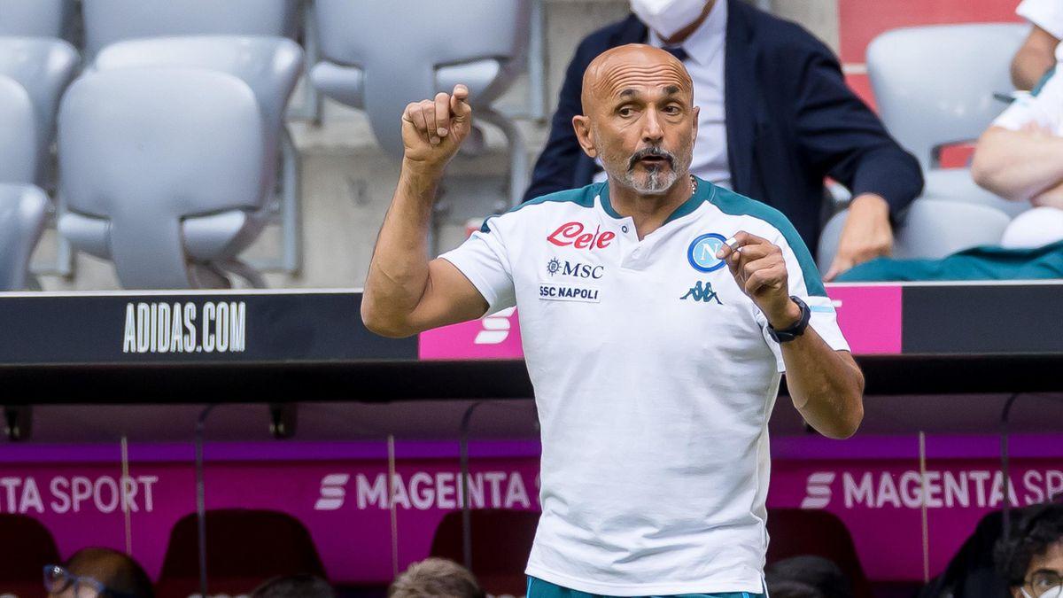 Luciano Spalletti durante l'amichevole tra Napoli e Bayern Monaco, 2021-22