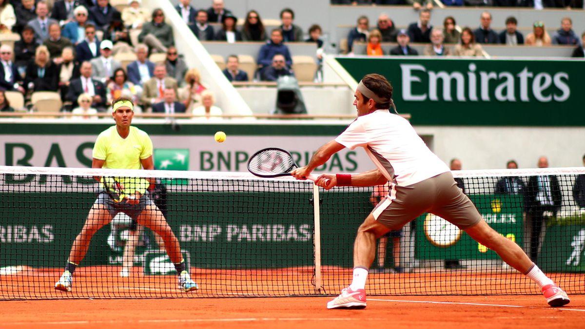 Rafael Nadal face à Roger Federer