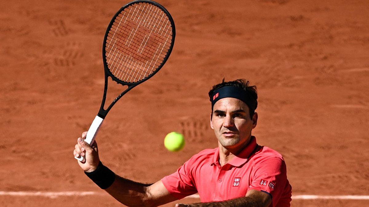 Roger Federer à Roland-Garros en 2021