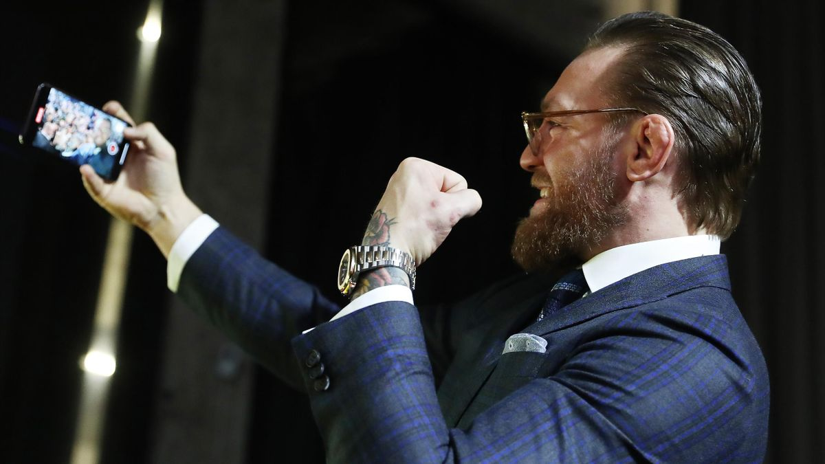 Conor McGregor gives a press conference in Moscow