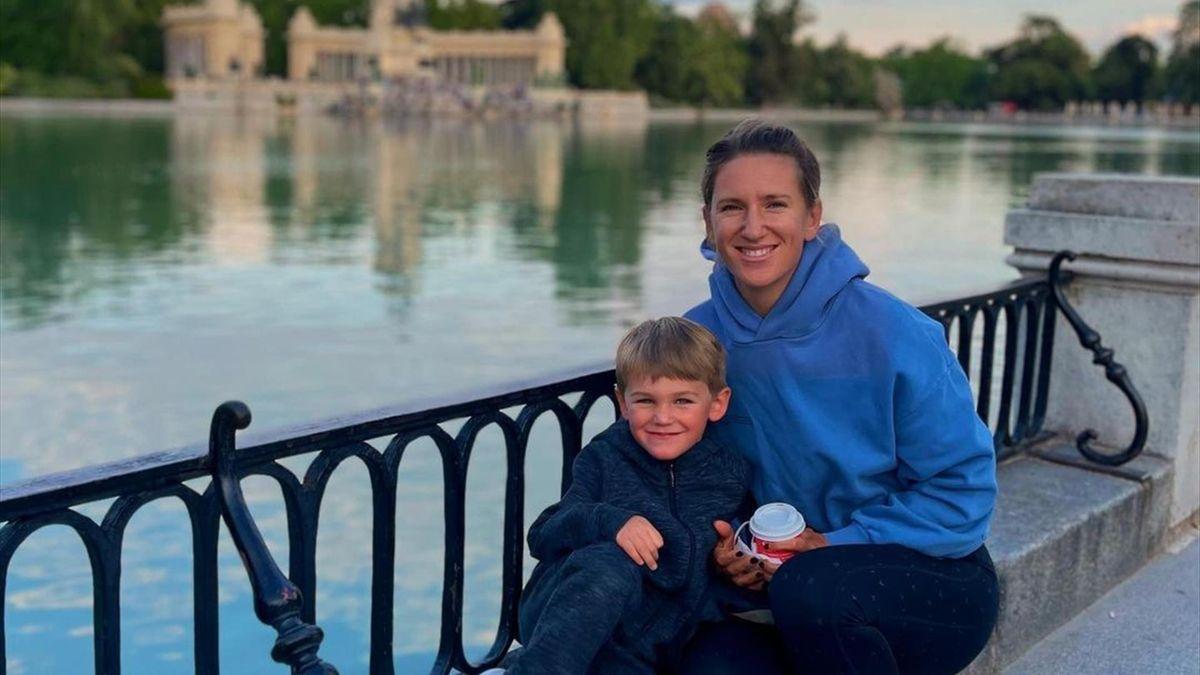 Виктория Азаренко с сыном