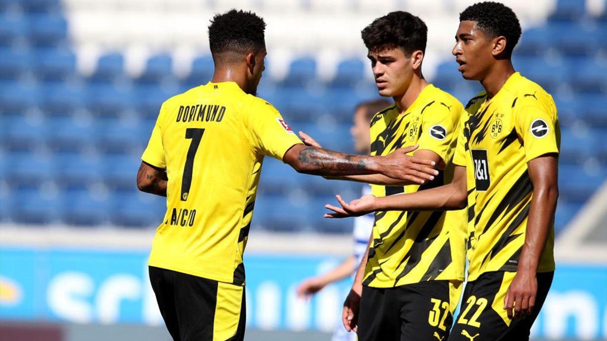 Jadon Sancho, Giovanni Reyna și Jude Bellingham sunt alături de Erling Haaland perlele de la Borussia Dortmund