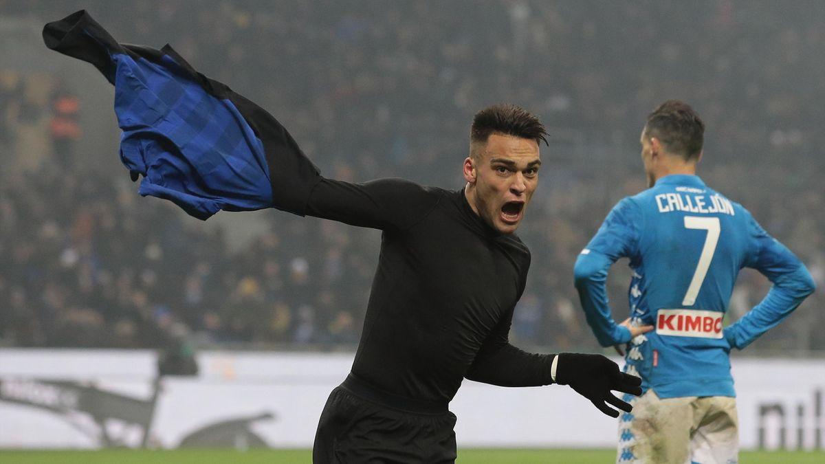 L'esultanza di Lautaro Martinez, Napoli-Inter, Getty Images