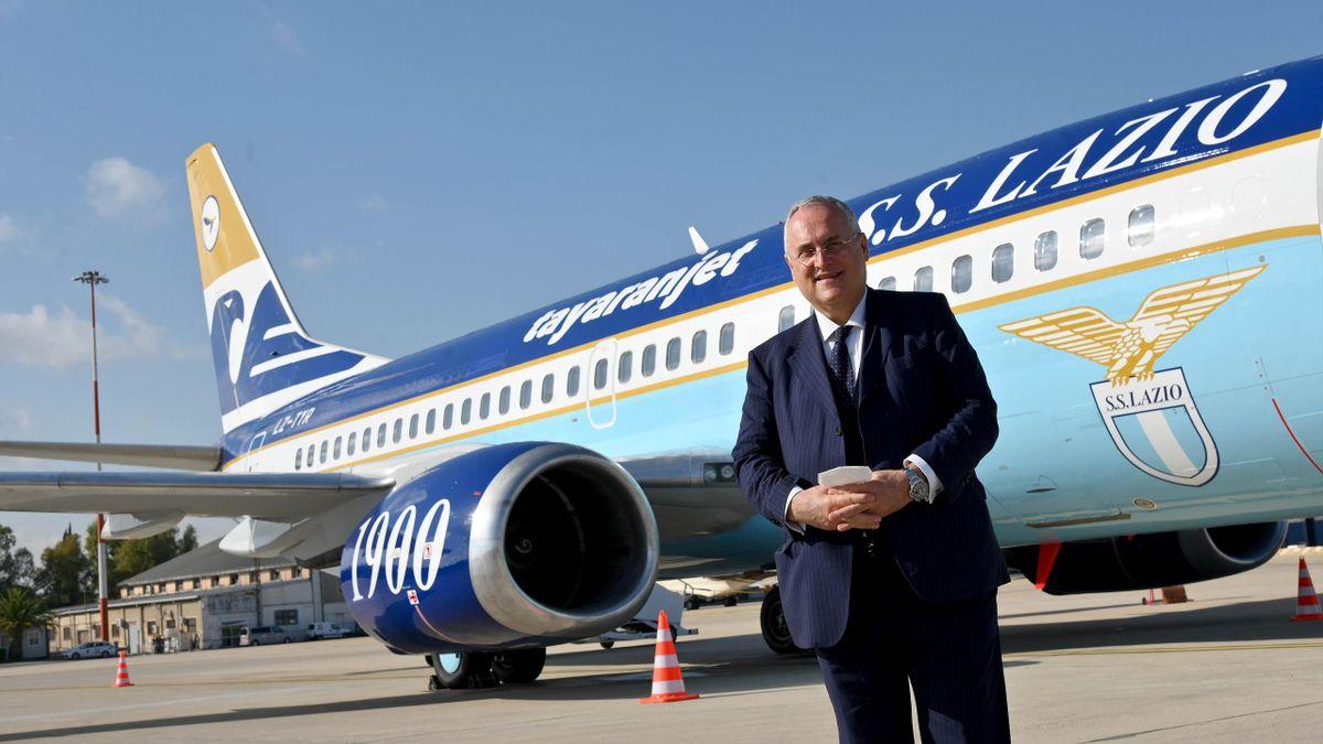 Il nuovo aereo della Lazio