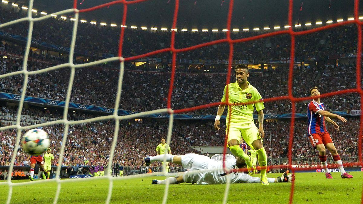 Neymar (Barcelone) buteur par deux fois face au Bayern Munich au match retour de demie de C1 2015