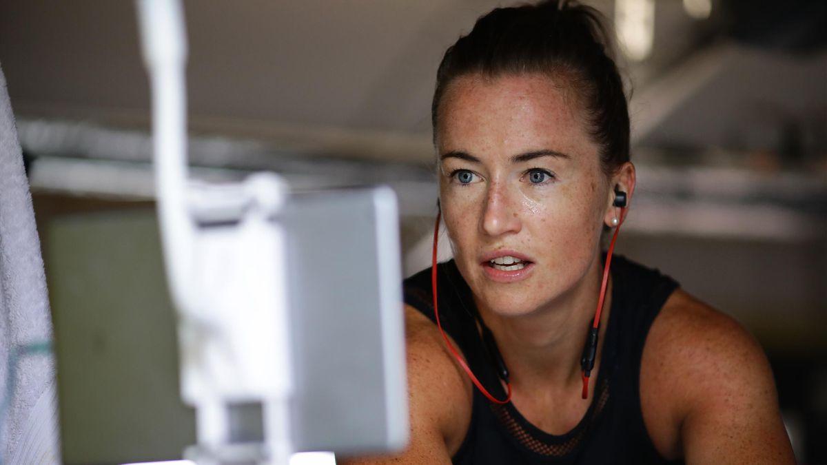 Maddie Hinch during training