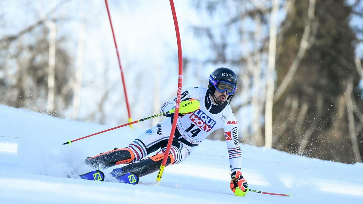 Victor Muffat-Jeandet, lors du slalom de Chamonix