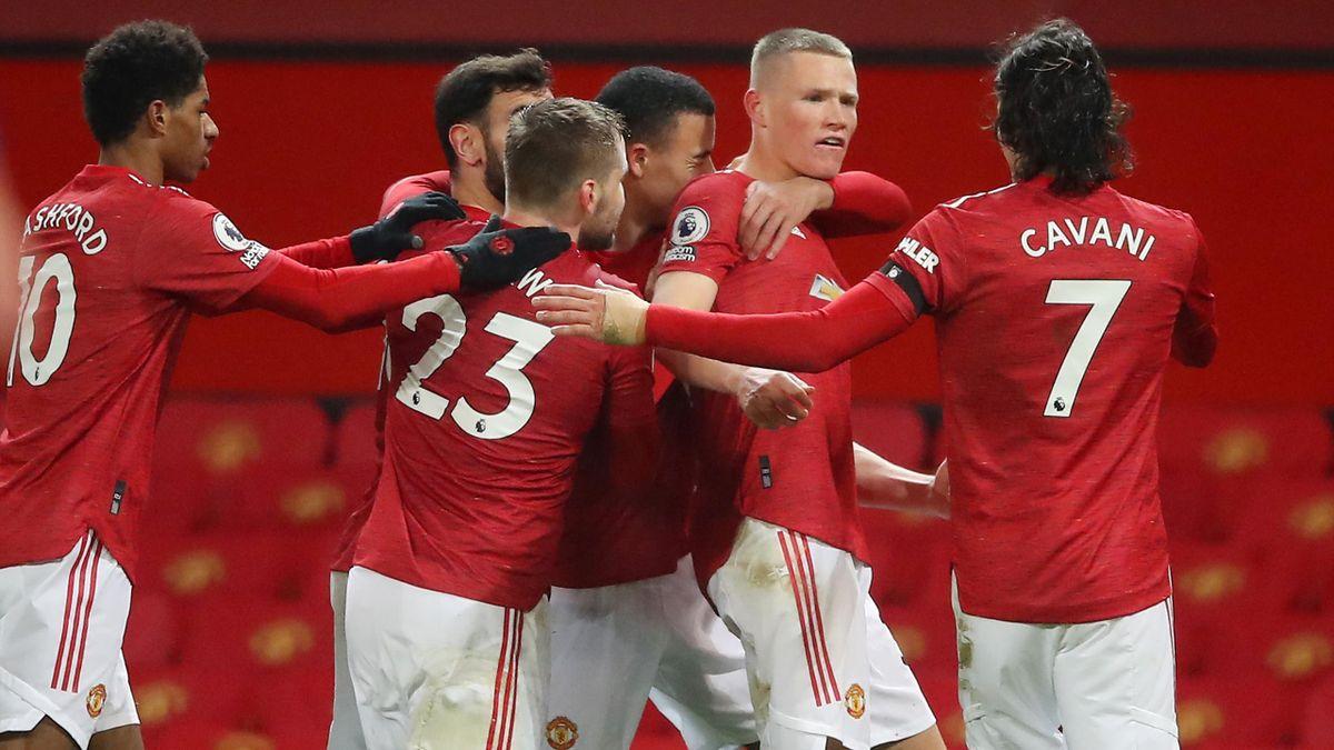 Scott McTominay et ses coéquipiers de Manchester United
