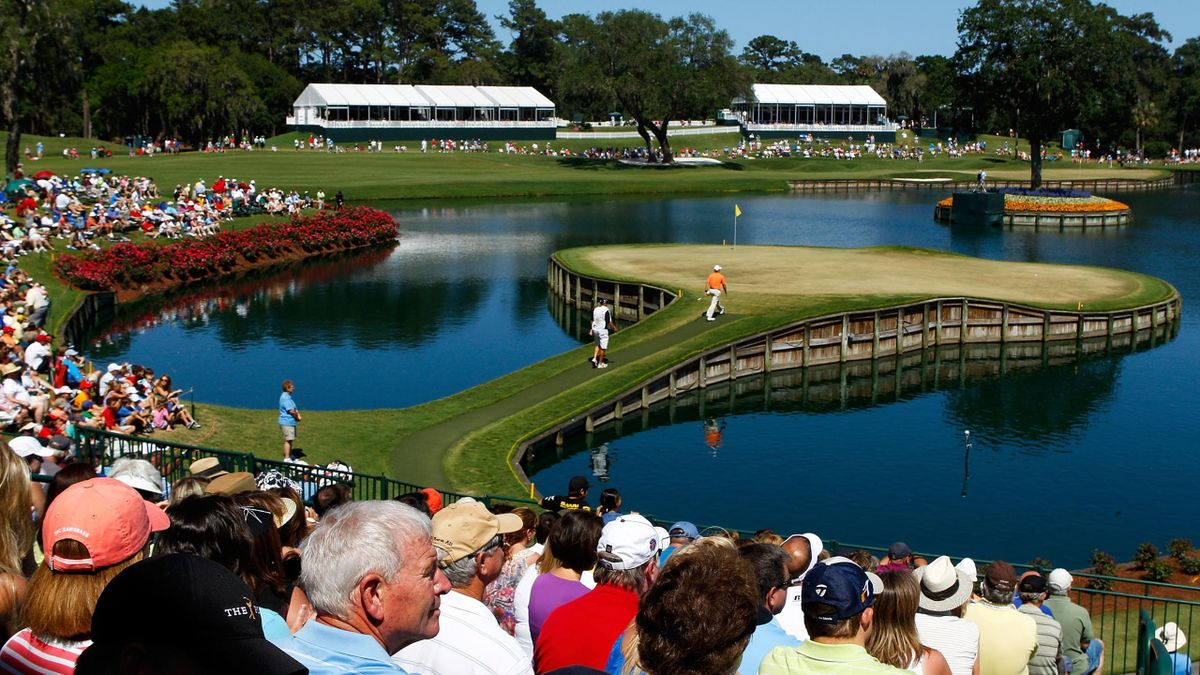 Island Green, the 17th hole in Players Championship.