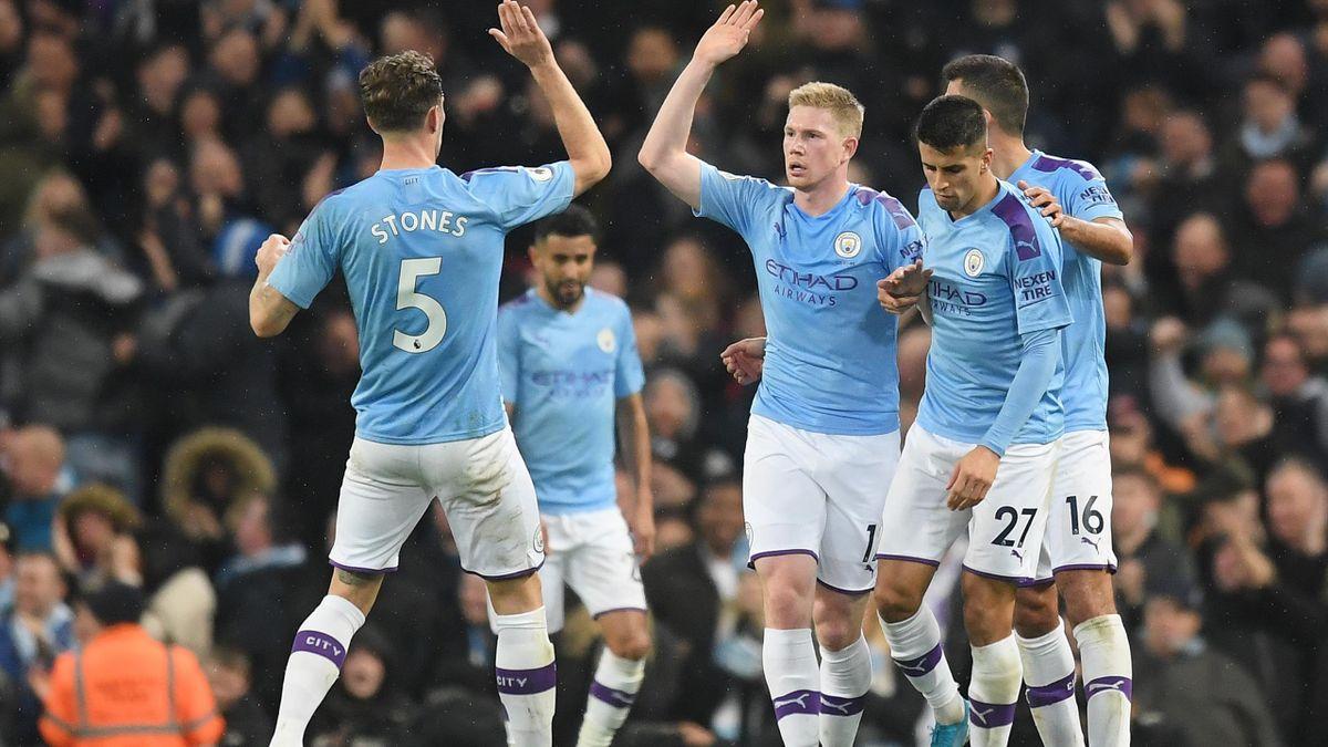 Kevin De Bruyne (Manchester City) célèbre son but face à Chelsea