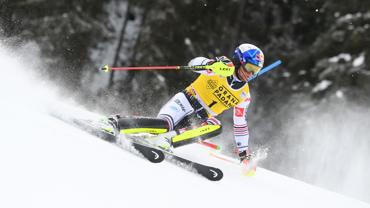 Alexis Pinturault sur le slalom d'Alta Badia - 2020