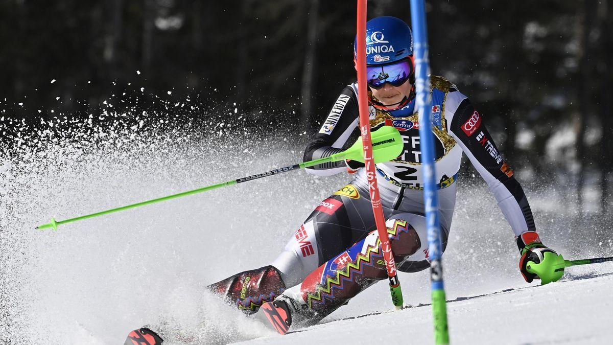 Petra Vlhová bei der WM 2021 in Cortina d'Ampezzo