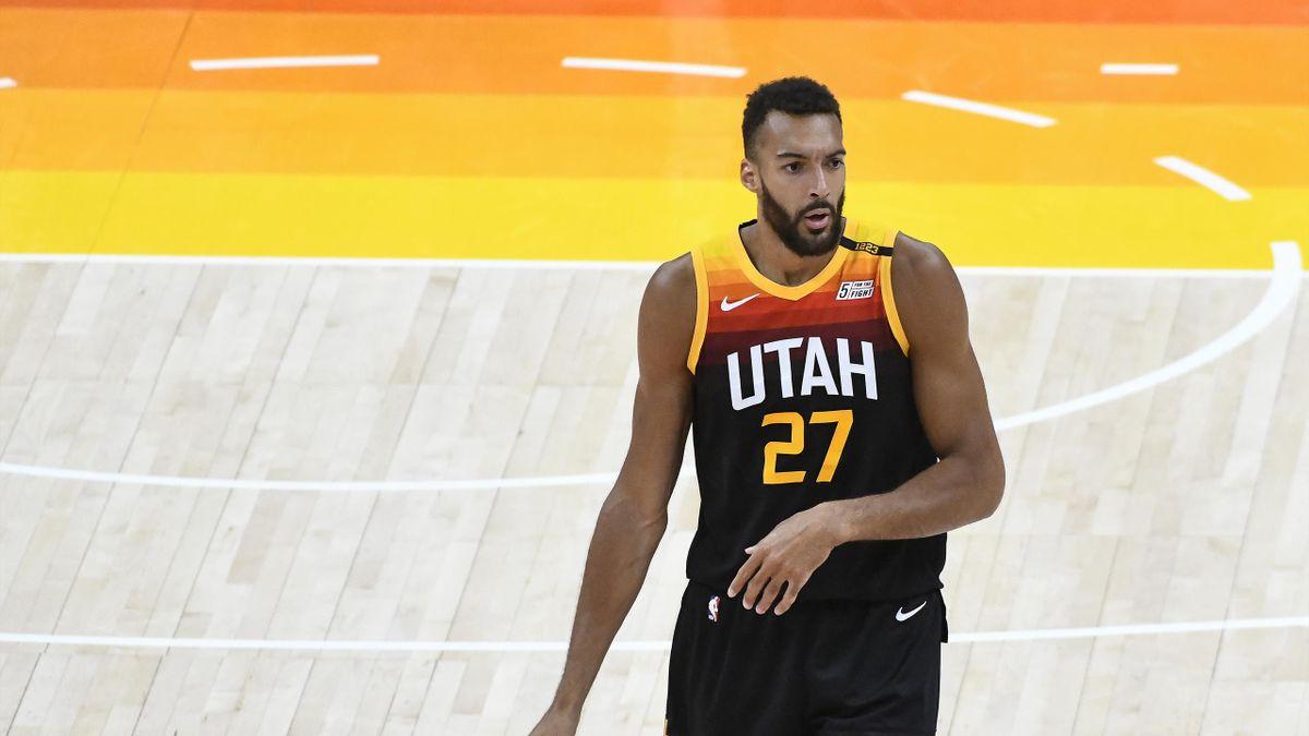 Rudy Gobert lors dumatch Utah Jazz - Toronto Raptors, le dimanche 1er mai 2021