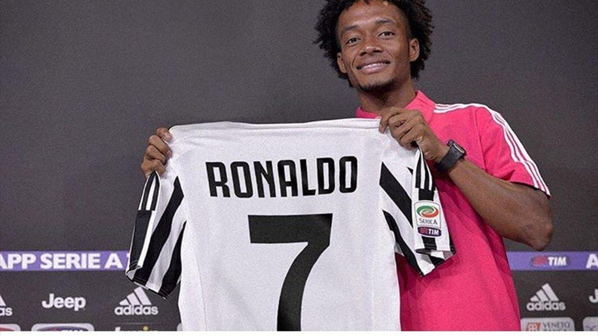 Il tweet di Cuadrado che conferma che Ronaldo vestirà la 7, Instagram