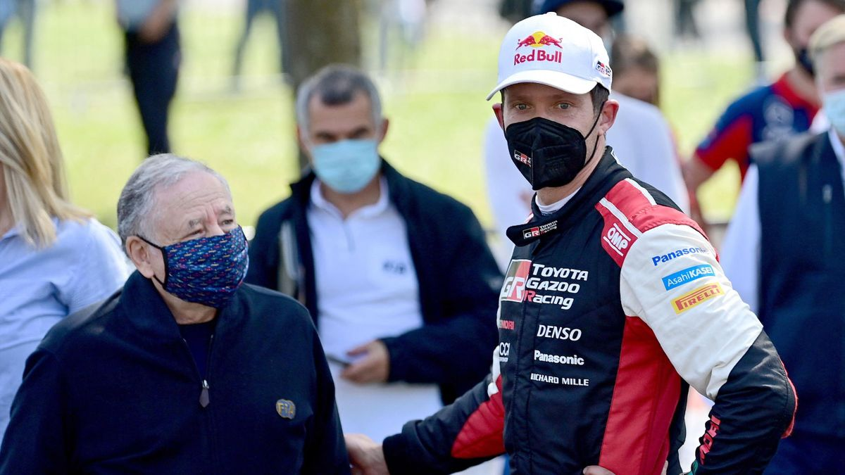 FIA Präsident Jean Todt und Sebastien Ogier in Zagreb