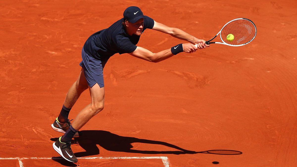 Jannik Sinner bei den French Open in Paris