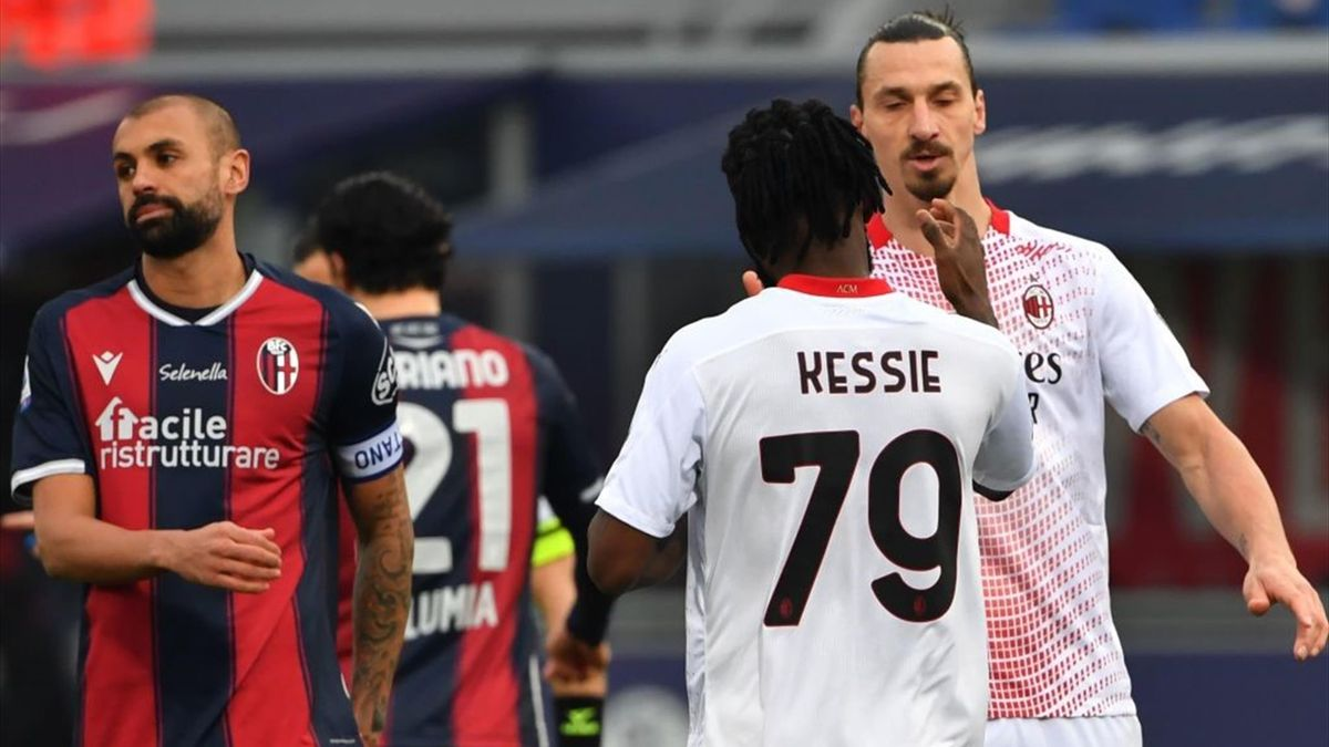 Ibrahimovic, Kessié - Bologna-Milan - Serie A 2020/2021 - Getty Images