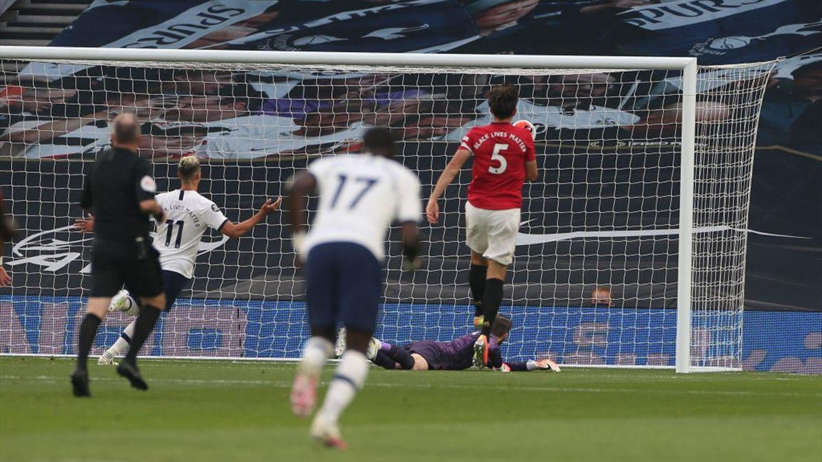 De Gea a greșit la golul lui Spurs