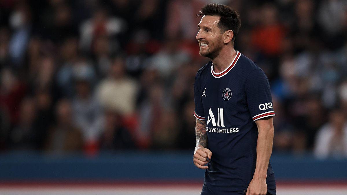 Lionel Messi lors du match opposant le PSG à Lyon, le 19 septembre 2021 en Ligue 1