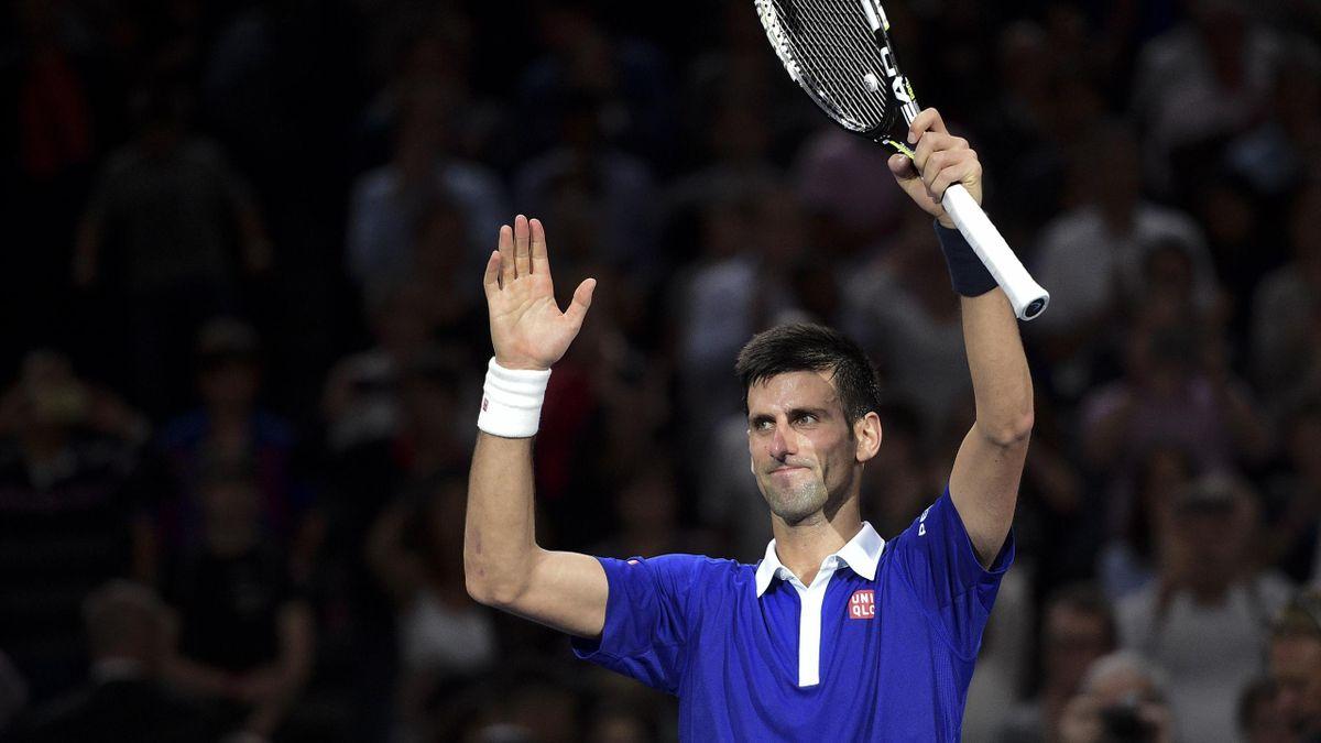 Novak Djokovic après sa victoire sur Tomas Berdych à Bercy