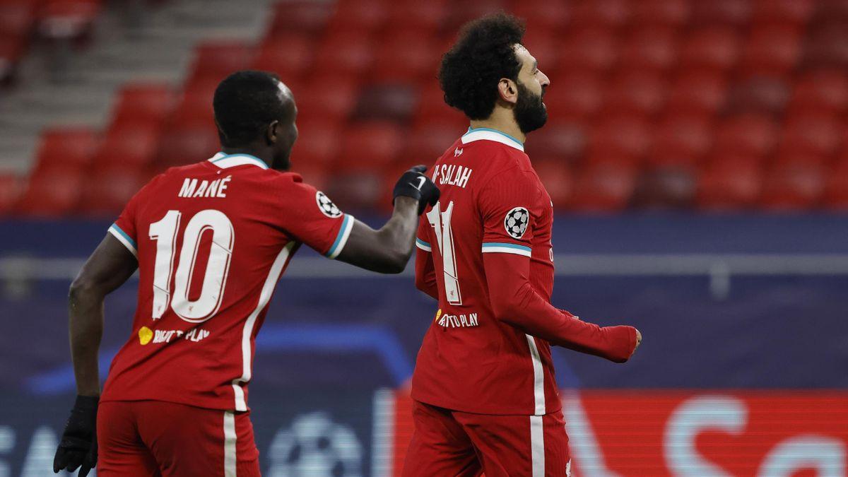 Sadio Mane és Mo Salah