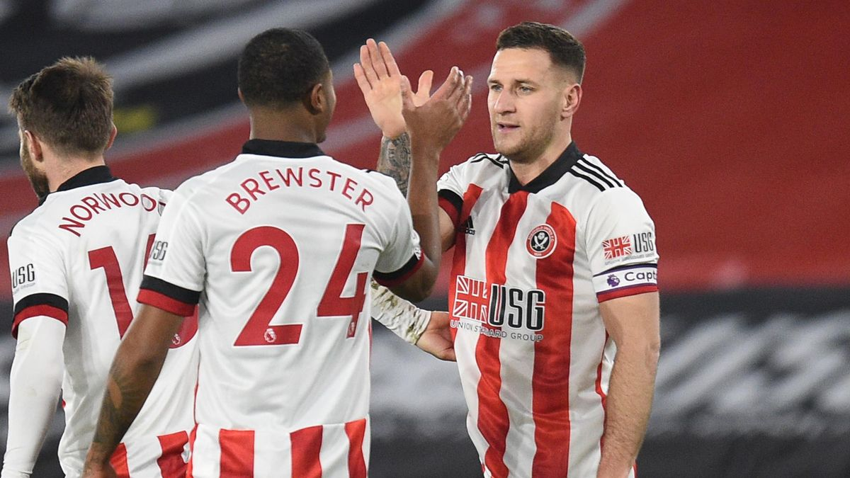 Billy Sharp celebrates scoring for Sheffield United