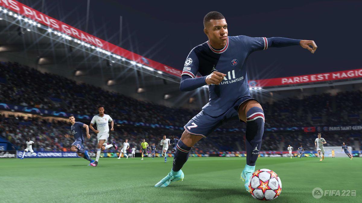 Kylian Mbappé dans FIFA 22 (Crédit image : EA Sports)