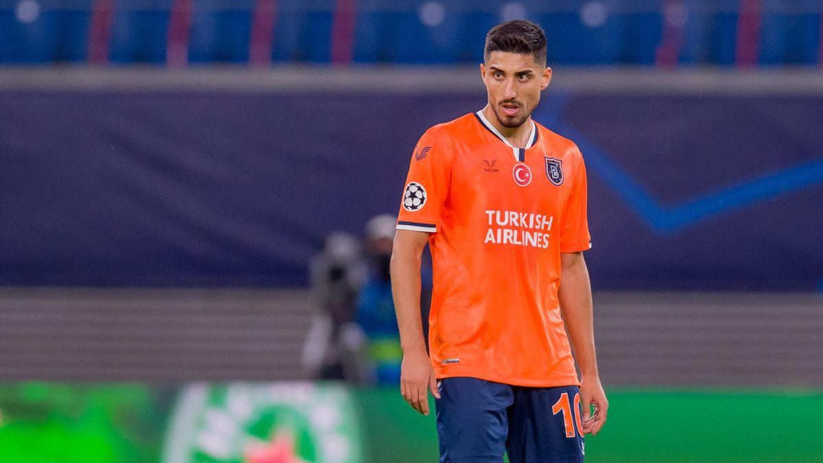 Berkay Oezcan of Istanbul Basaksehir FK looks on during the UEFA Champions League Group H stage match between RB Leipzig and Istanbul Basaksehir at Red Bull Arena