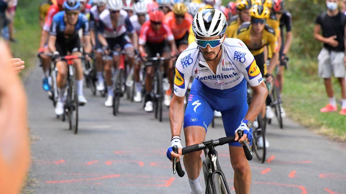 Julian Alaphilippe lors de la 12e étape.