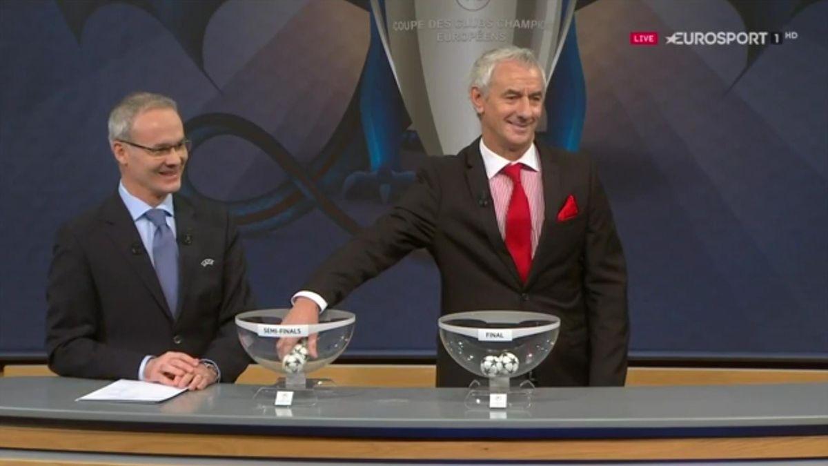 Ian Rush, Champions League semifinals draw 2016-17 (Eurosport)