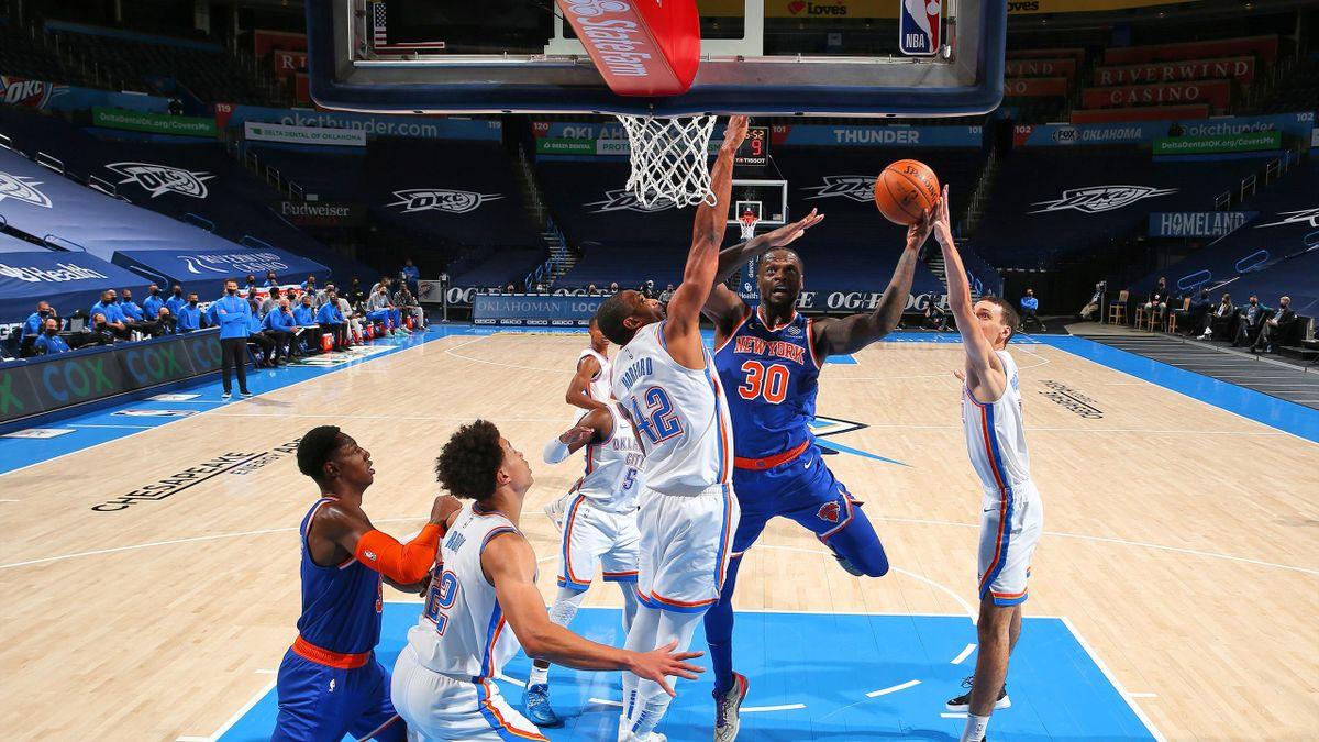 Julius Randle (New York Knicks) face à OKC - 2021