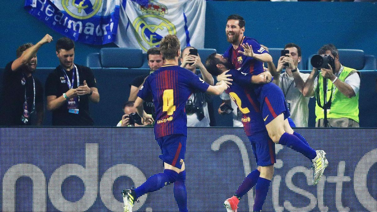 Lionel Messi und Co. feiern den Sieg gegen Real Madrid