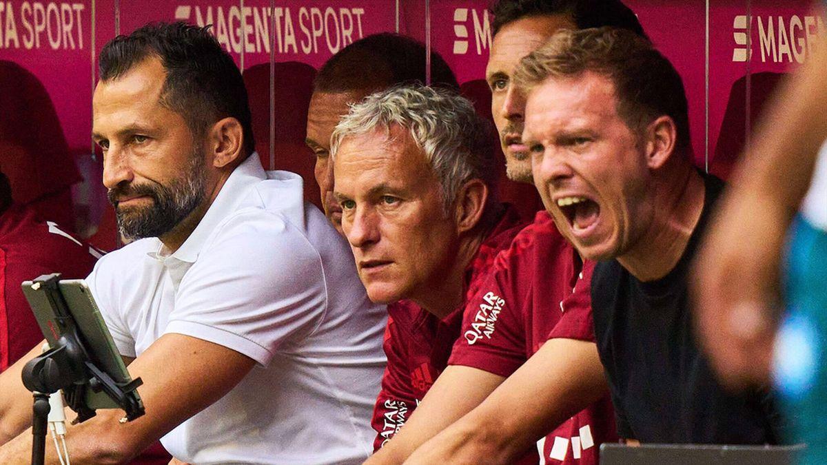 Julian Nagelsmann auf der Trainerbank des FC Bayern.