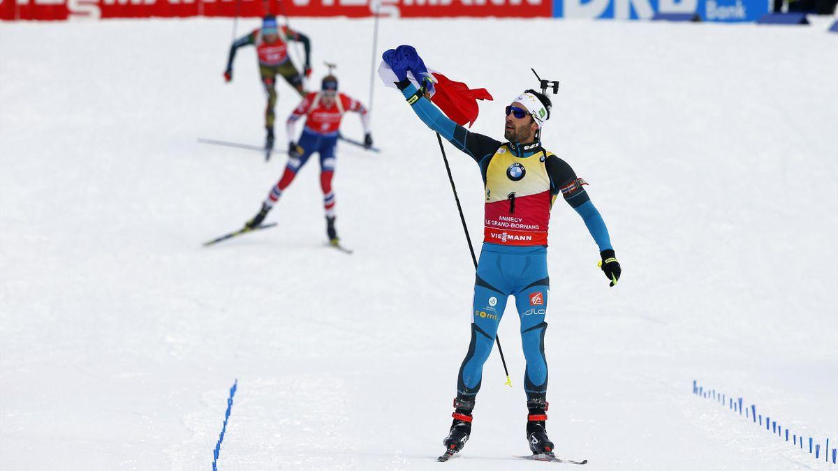 Martin Fourcade gewinnt den Massenstart in Annecy-Le Grand Bornand