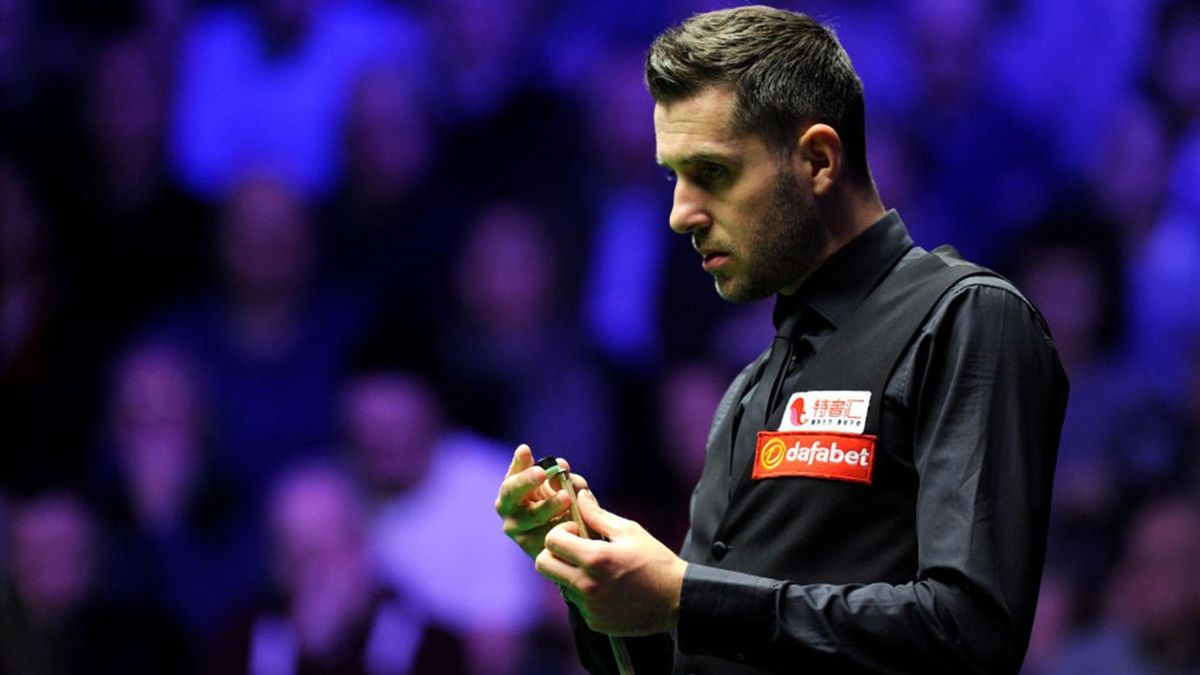 Mark Selby of England looks on during his quarter-final match against Judd Trump