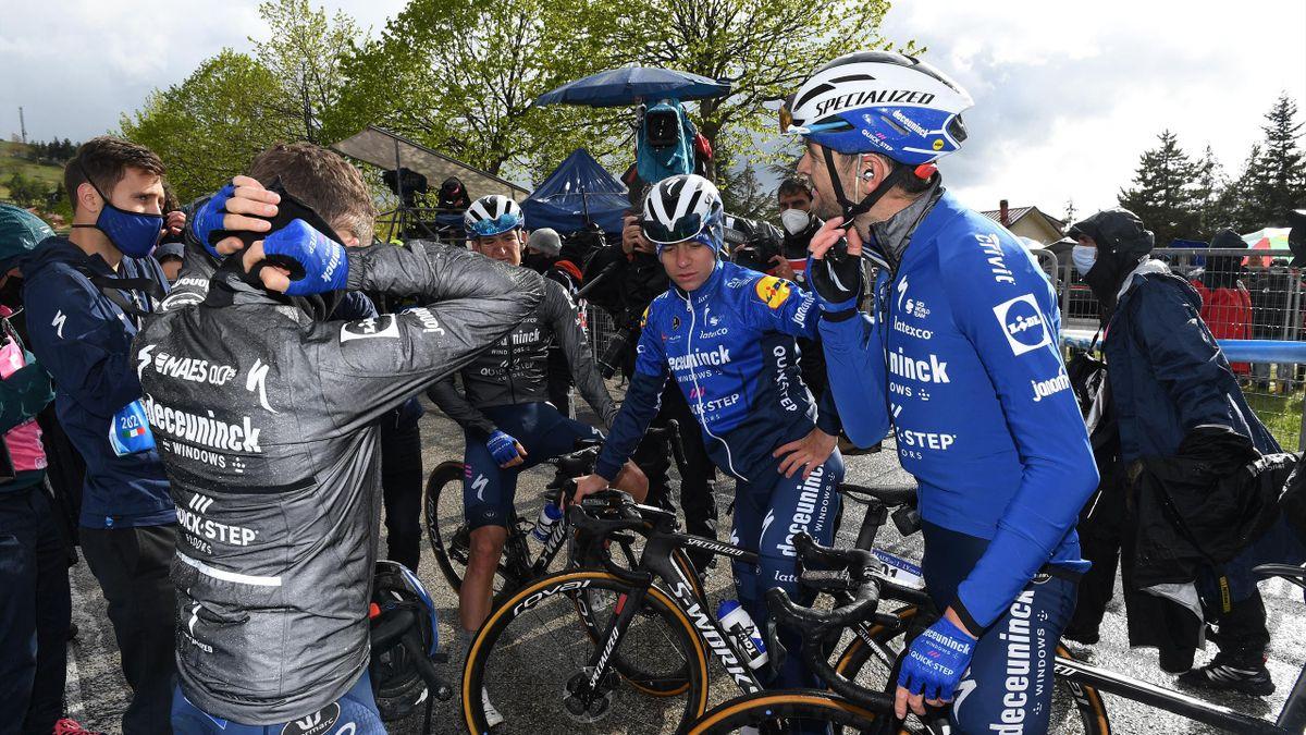 Pieter Serry à l'arrivée de la 6e étape du Giro 2021