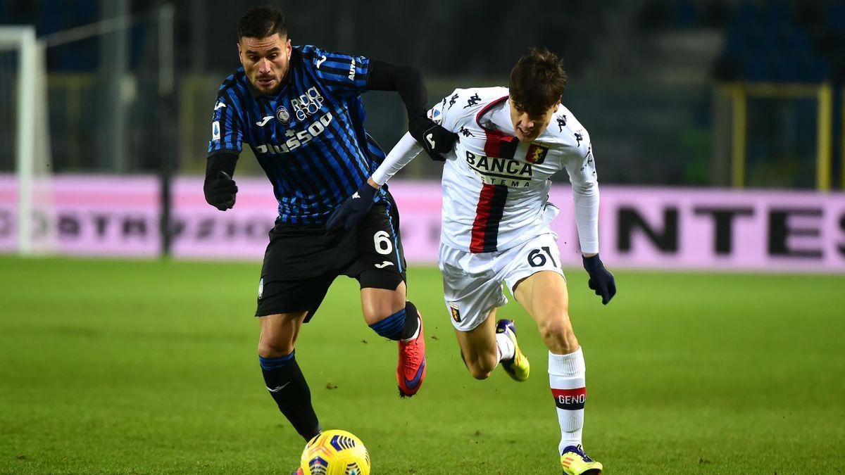 Atalanta-Genoa, Serie A 2020-2021: José Luis Palomino (Atalanta) ed Eldor Shomurodov (Genoa) (Getty Images)