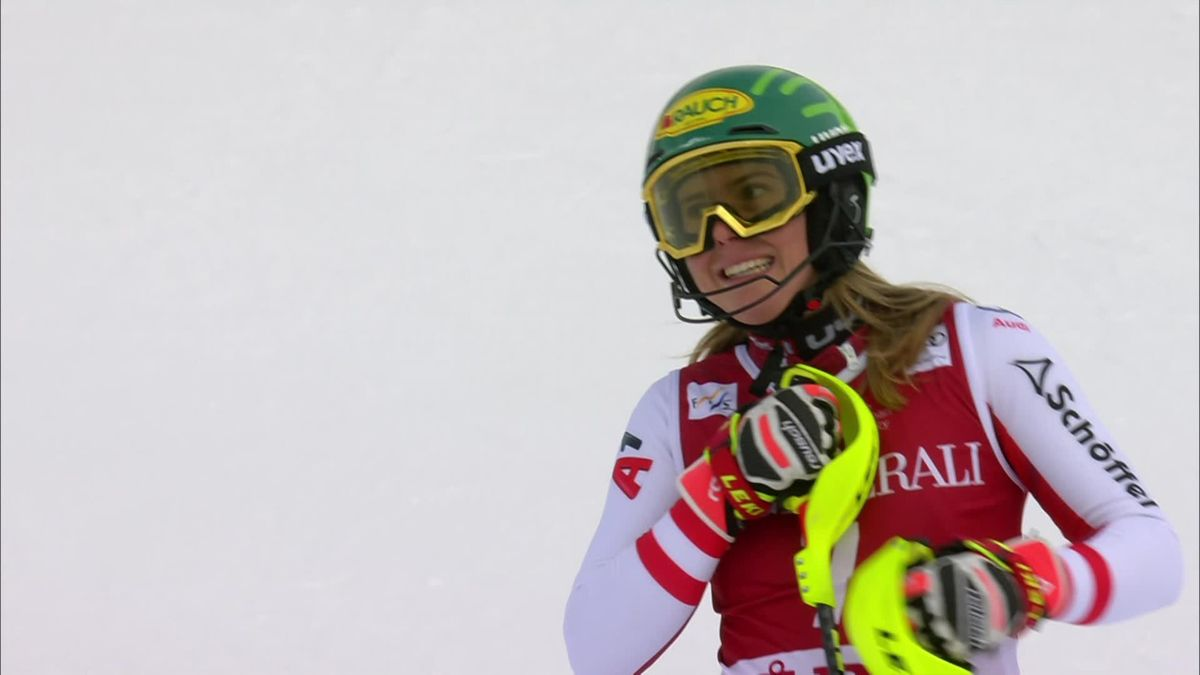 Alpine Skiing - WCUP ARE - 1st Run - Katarina Liensberger