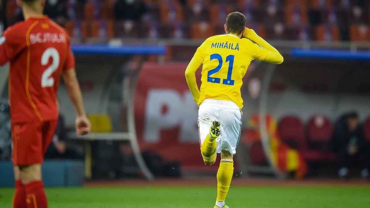 Mihăilă a debutat cu gol contra Macedoniei de Nord