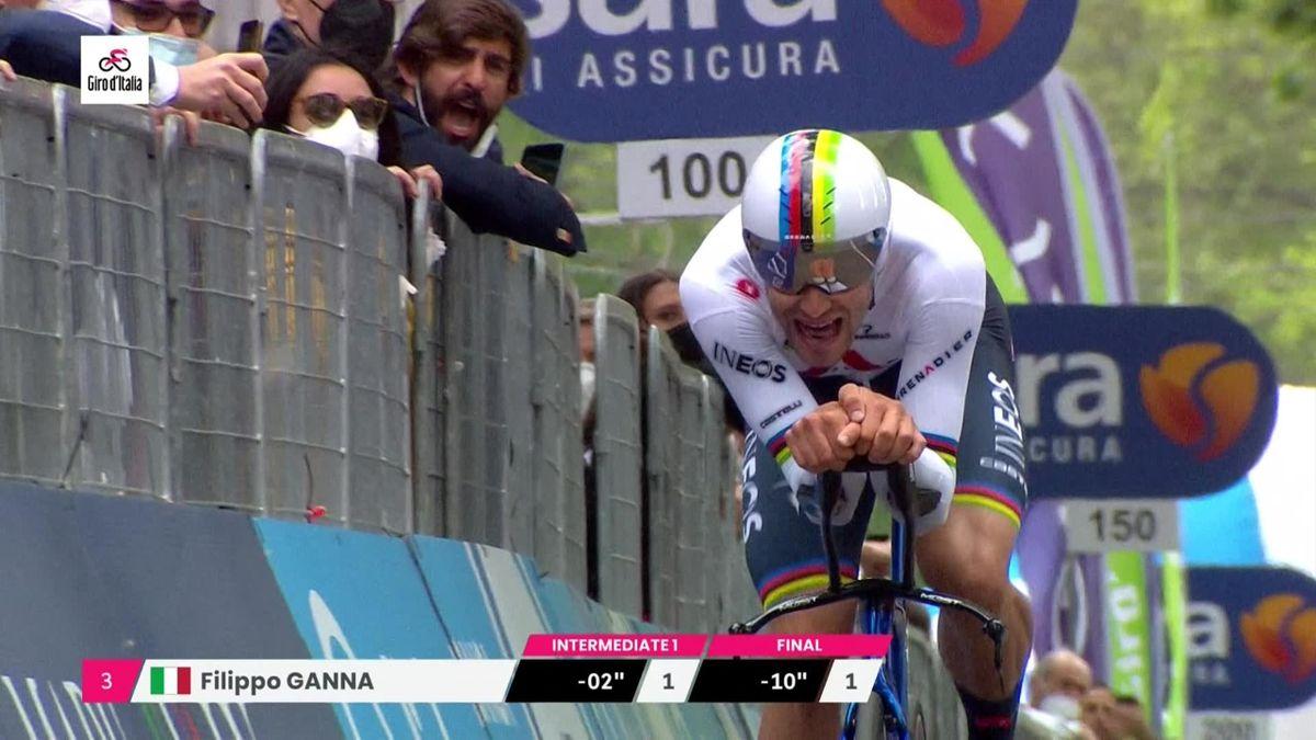 'Supersonic' Ganna wins opening TT at Giro