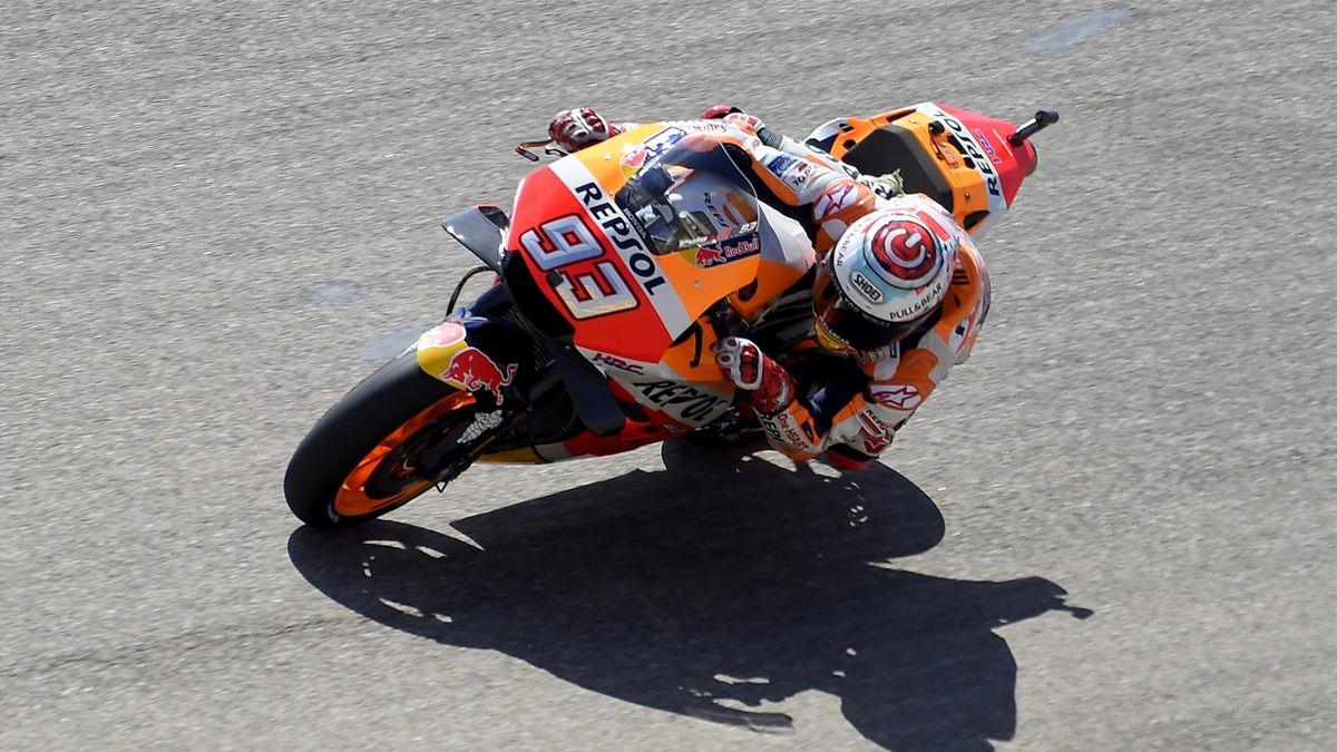 Marc Marquez (Honda HRC) au Grand Prix d'Aragon 2018