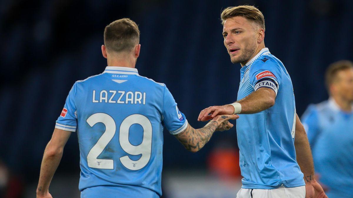 Ciro Immobile (r.) und Lazio Rom droht eine harte Strafe