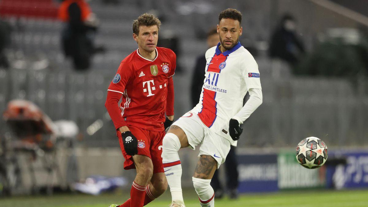 Neymar lors de Bayern - PSG