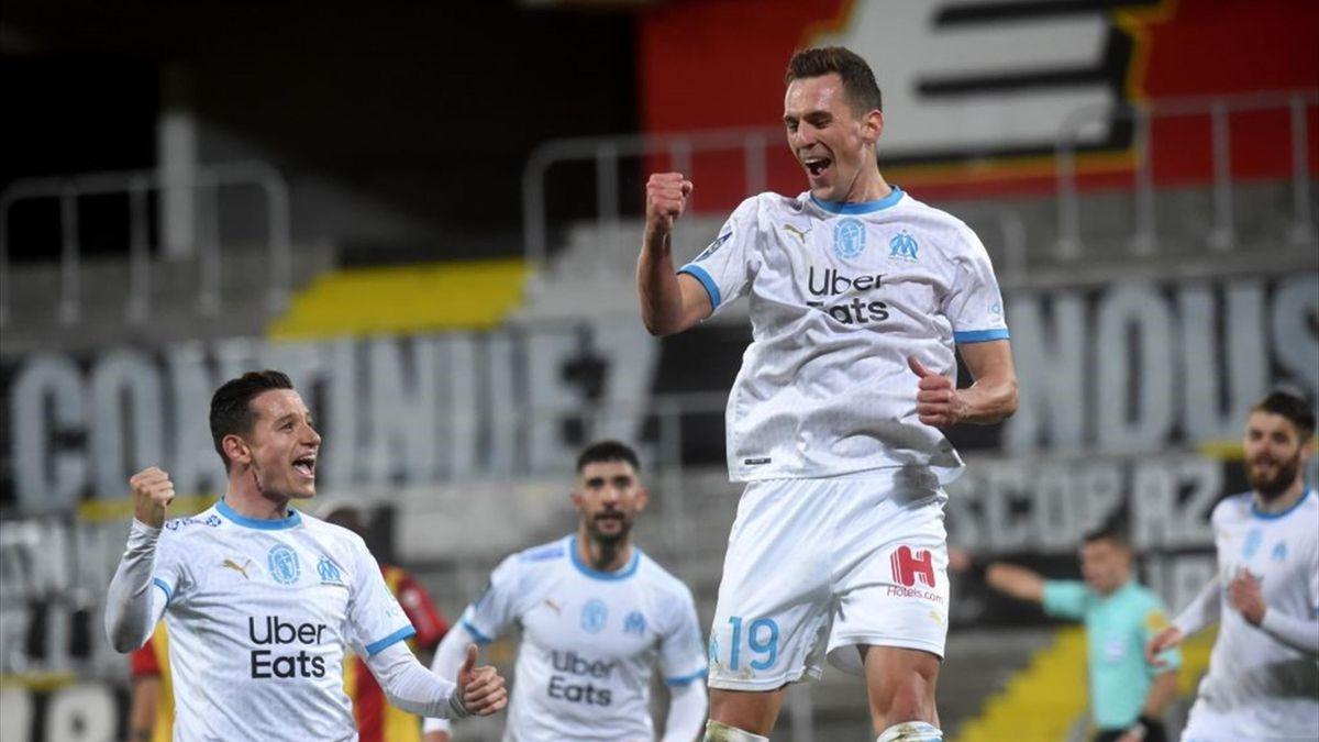 Arkadiusz Milik esulta - Lens-Marsiglia Ligue 1 2020-21