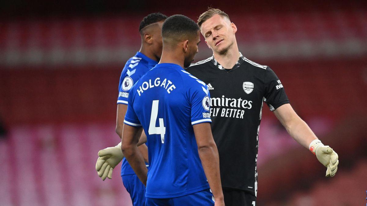 FC Arsenal verliert durch Leno-Patzer gegen den FC Everton - Europapokal  rückt immer weiter weg - Eurosport