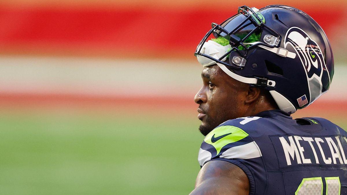 D.K. Metcalf spielt normalerweise in der NFL für die Seattle Seahawks