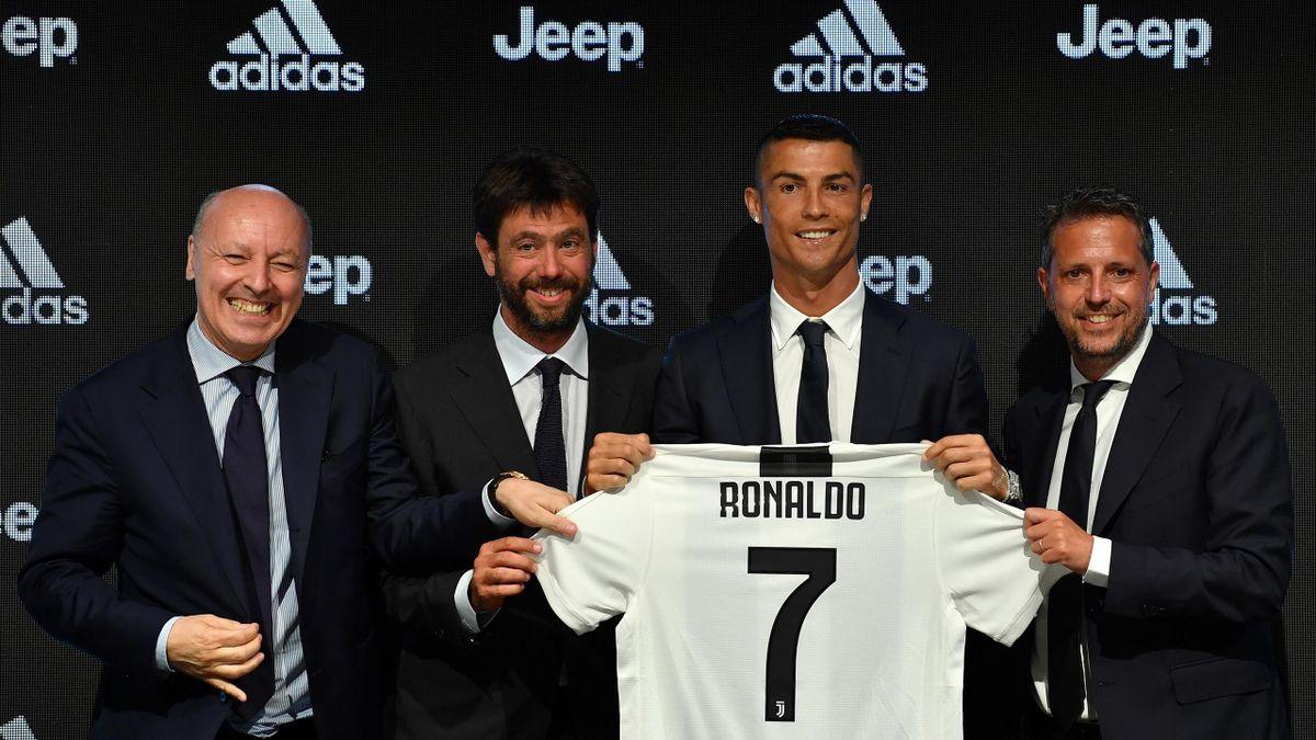 Paratici, Agnelli, Cristiano Ronaldo e Marotta