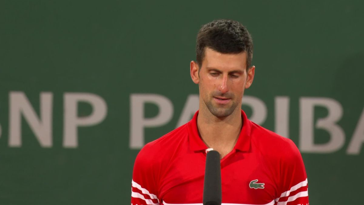 Roland Garros - day 3 : Djokovic's interview