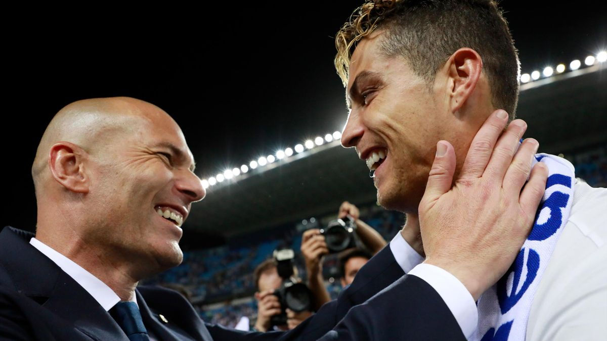 Zinédine Zidane mit Cristiano Ronaldo