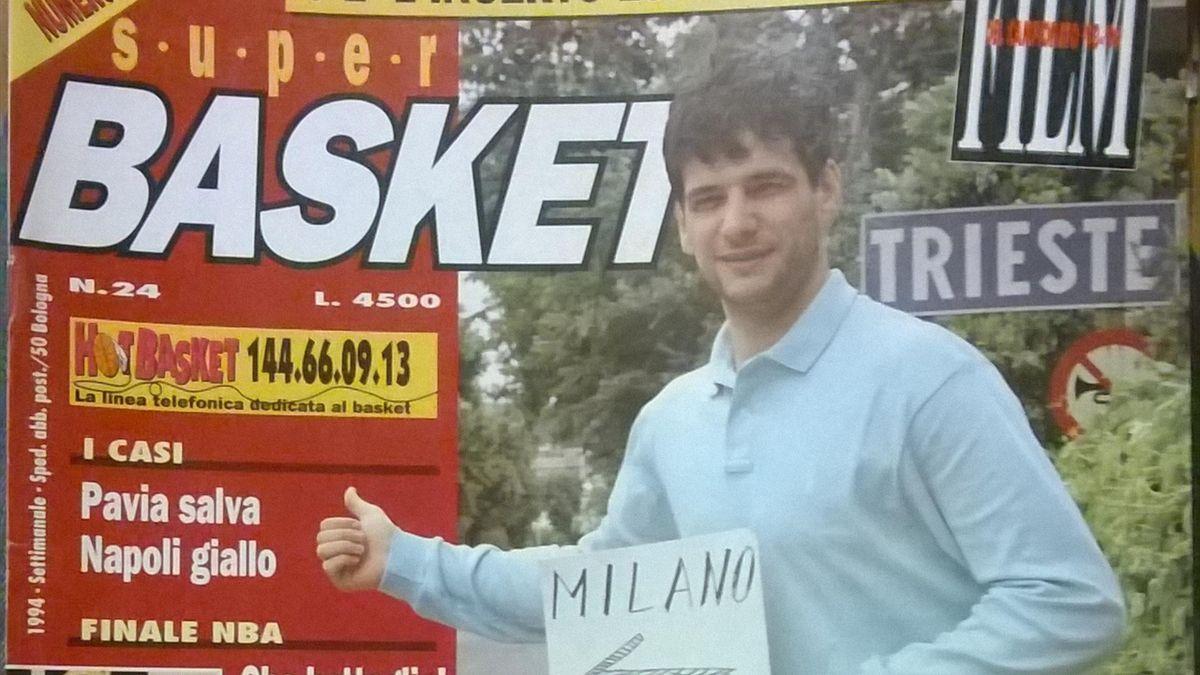 Copertina Superbasket, Nando Gentile da Trieste a Milano